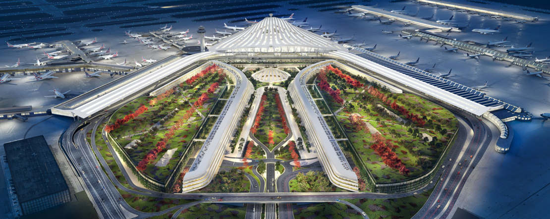 Santiago Calatrava's proposal for Chicago O'Hare Airport (1)
