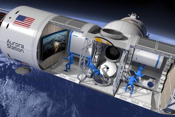 Space Hotel like a small Cruise Ship