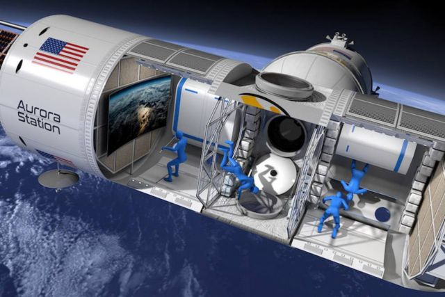 Space Hotel like a small Cruise Ship