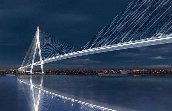 The longest Cable-stayed Bridge in North America (6)
