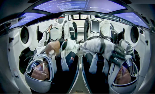 This is SpaceX's first Human Crew
