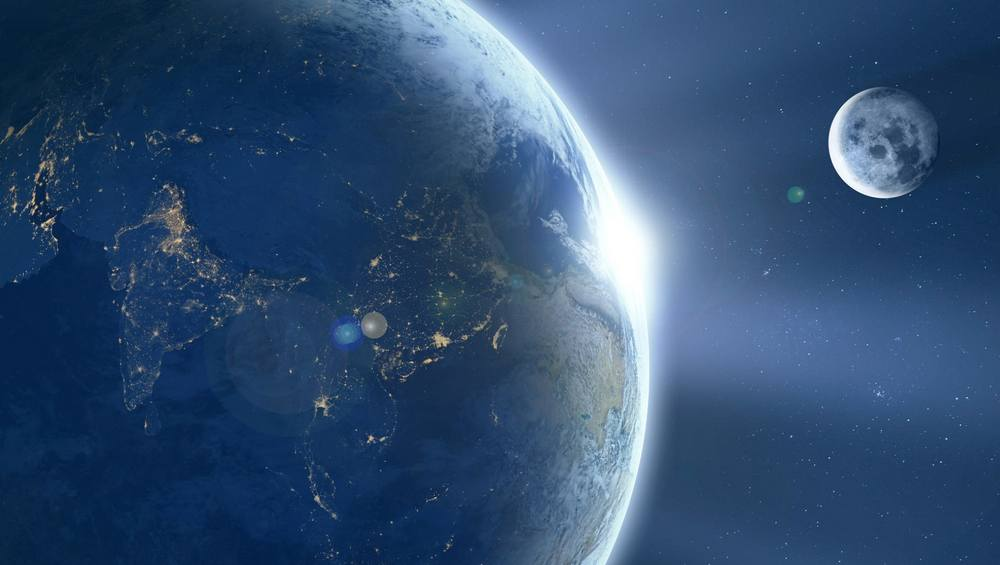 Earth's Atmosphere stretches out beyond the Moon