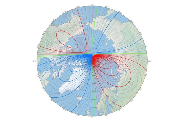 North Magnetic Pole is moving quickly toward Siberia