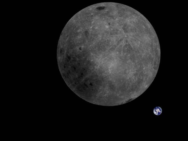 Stunning New Photo shows the Far Side of the Moon with Earth