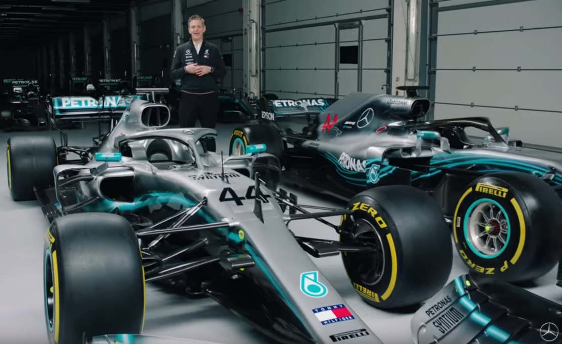 2019 vs 2018 mercedes f1 car explained wordlesstech. Black Bedroom Furniture Sets. Home Design Ideas
