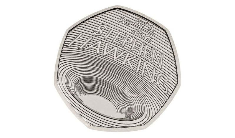 A Black Hole on a Coin to Honor Stephen Hawking