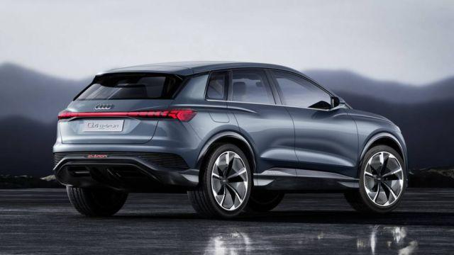 Audi Q4 e-tron concept at Geneva Motor Show