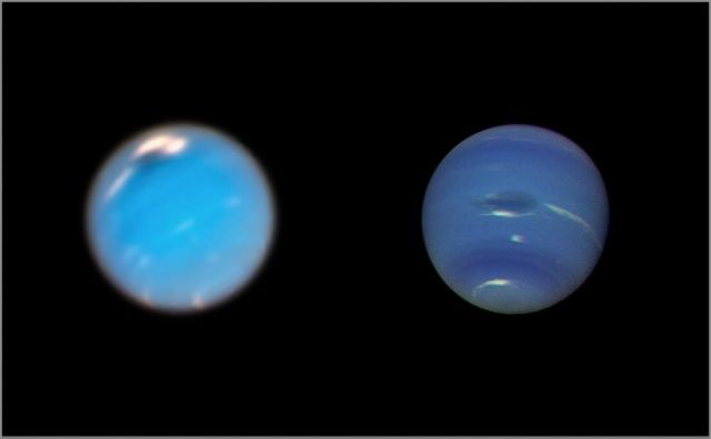 Giant Storms on Neptune
