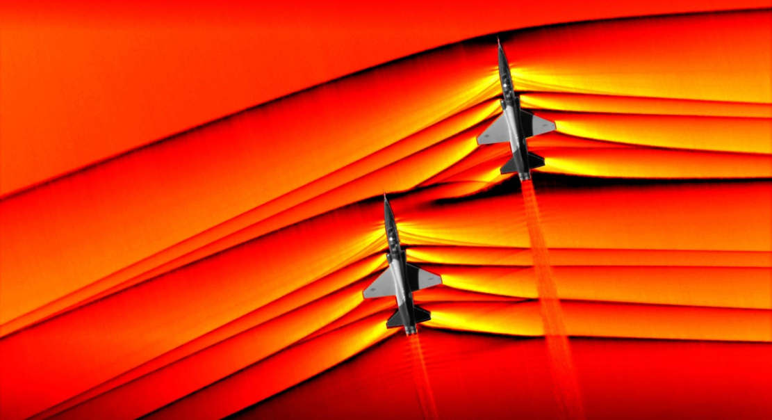 NASA Captures Supersonic Shock Interaction (1)