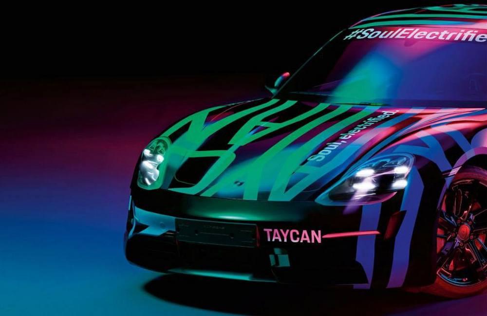 Porsche Taycan EV Teaser Images
