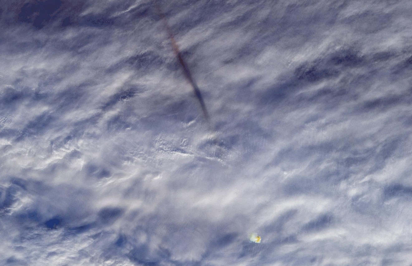 Satellite captured giant Fireball exploded over the Bering Sea