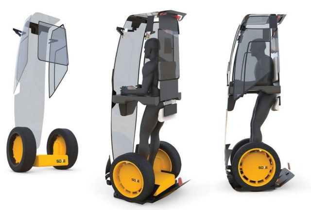 Sole single user Stand-Up vehicle