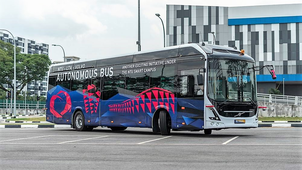 Volvo unveil world's first Autonomous Electric Bus