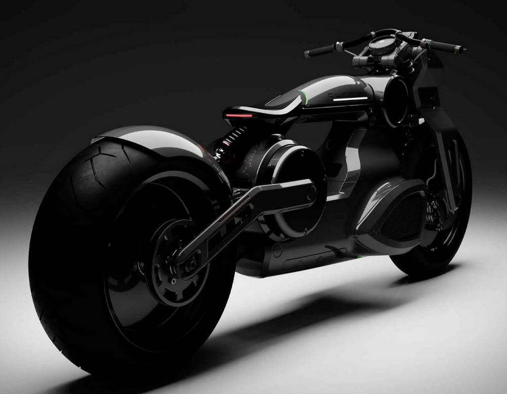 Curtiss Zeus jet-black electric Motorcycle