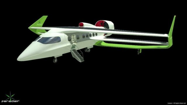 Faradair Hybrid Electric commercial plane (5)