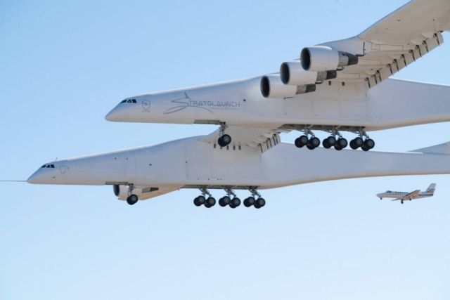 Maiden flight of World's Largest Plane