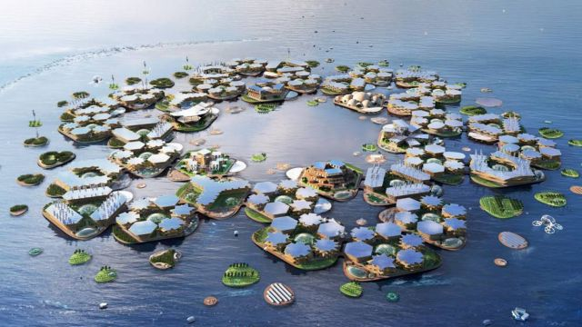 Oceanix City Floating villages concept