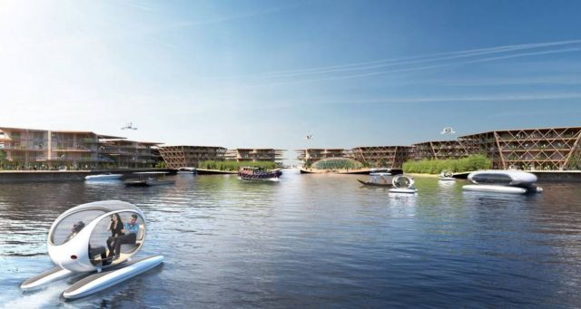 Oceanix City Floating villages concept (7)