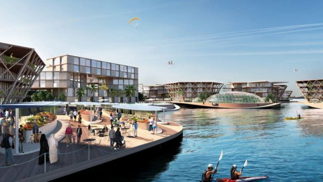 Oceanix City Floating villages concept (6)