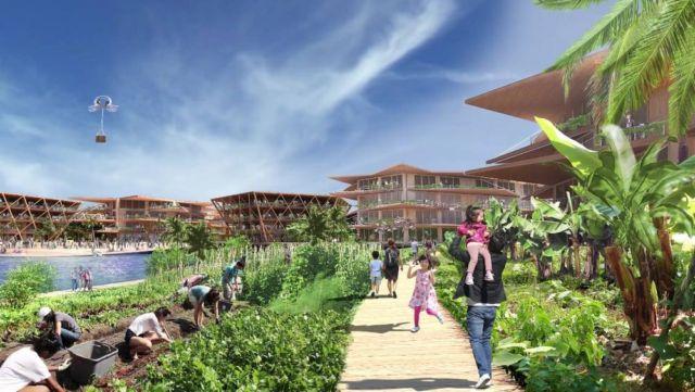 Oceanix City Floating villages concept (4)