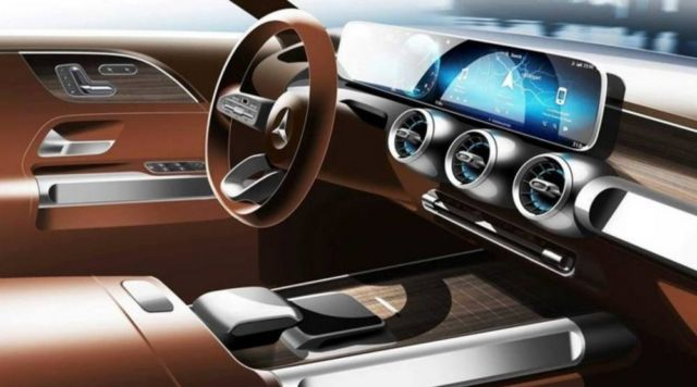 Preview of upcoming Mercedes GLB interior