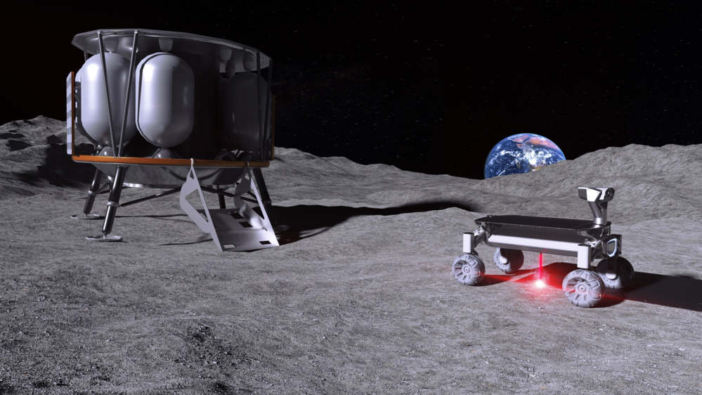 3D Laser printing to the Moon