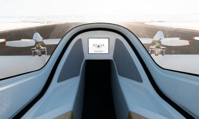 A glimpse of Airbus flying taxi cockpit
