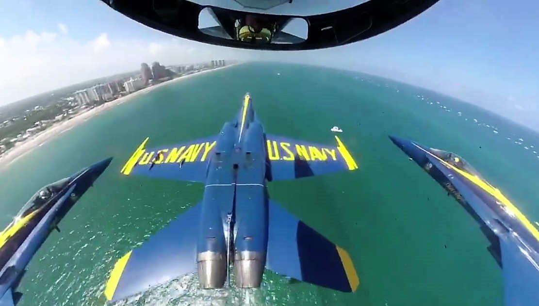 Blue Angels over Fort Lauderdale Beach