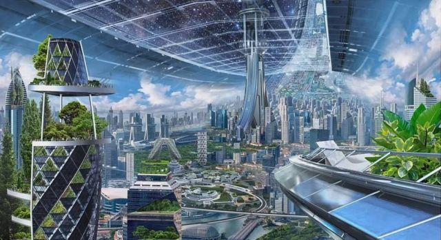 Blue Origin Self-sustaining Habitats in Space