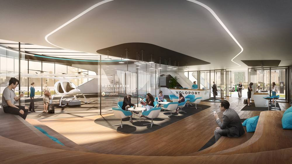 Air Taxi Volo-Port to be Built by End of 2019