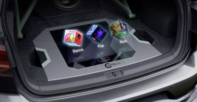 Hologram-controlled sound system in the GTI