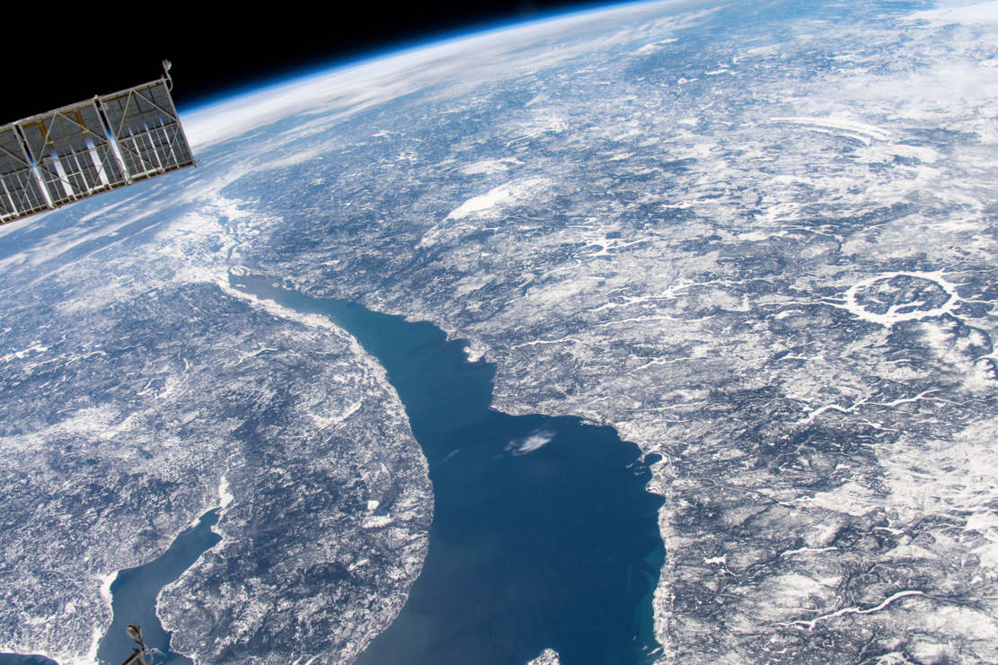 Manicouagan Impact Crater from Space Station