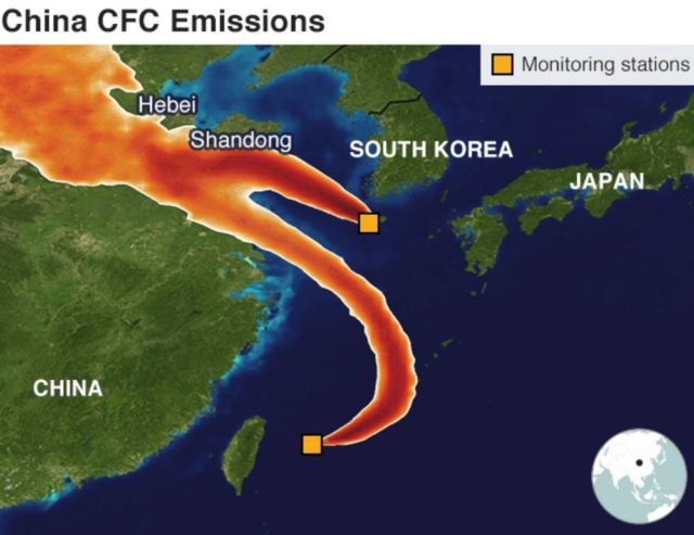Mysterious ozone-depleting CFC emissions source discovered