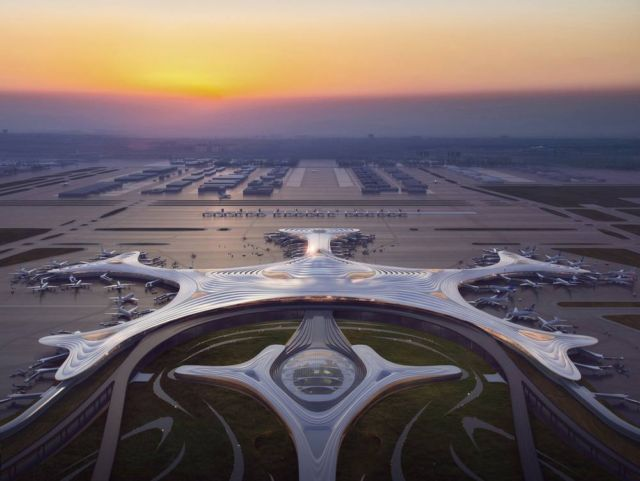 The snowflake-shaped China's Harbin Airport