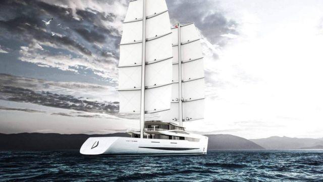 Vela 80m futuristic sailing yacht (1)