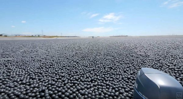 Why are 96 million Black Balls on this Reservoir