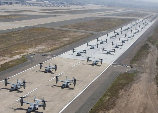 "41 helicopters in a massive ""Elephant Walk"" formation (3)"