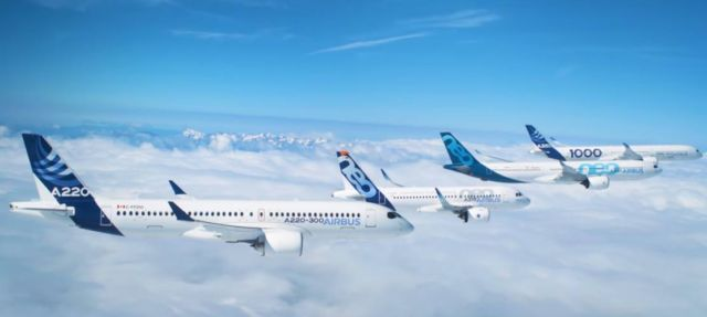 Airbus Commercial Aircraft formation flight (2)