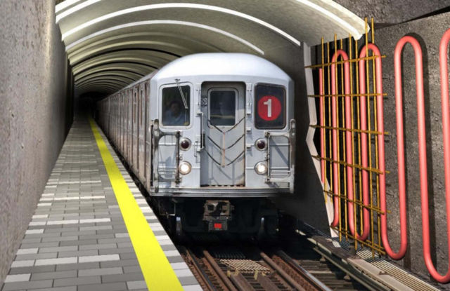 Geothermal Heat-recovery system in Train Tunnels