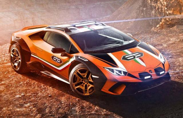 Lamborghini Huracan Sterrato Rally car