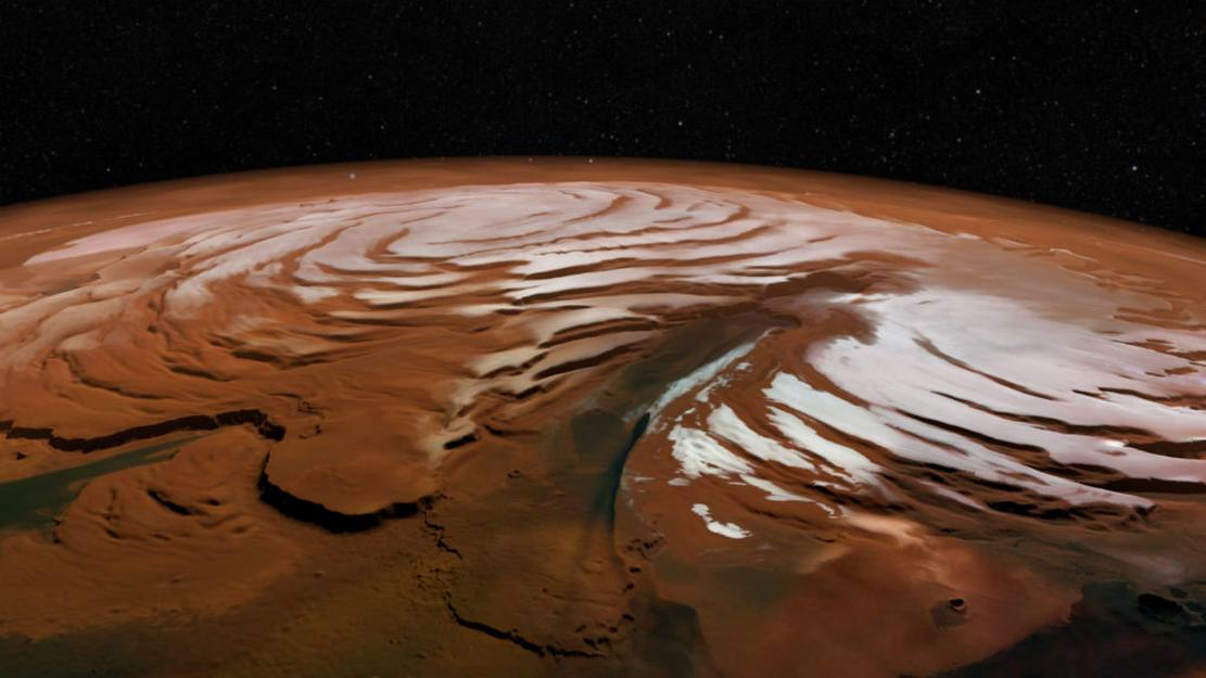 Massive Martian Ice Deposit discovered