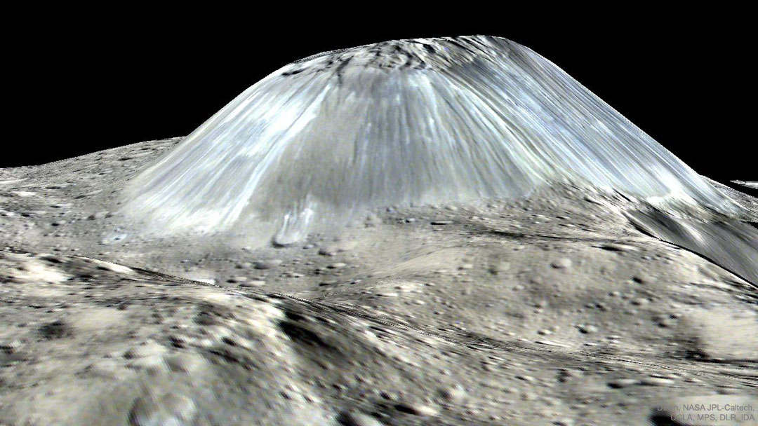 Peculiar Mountain Ahuna Mons on Asteroid Ceres
