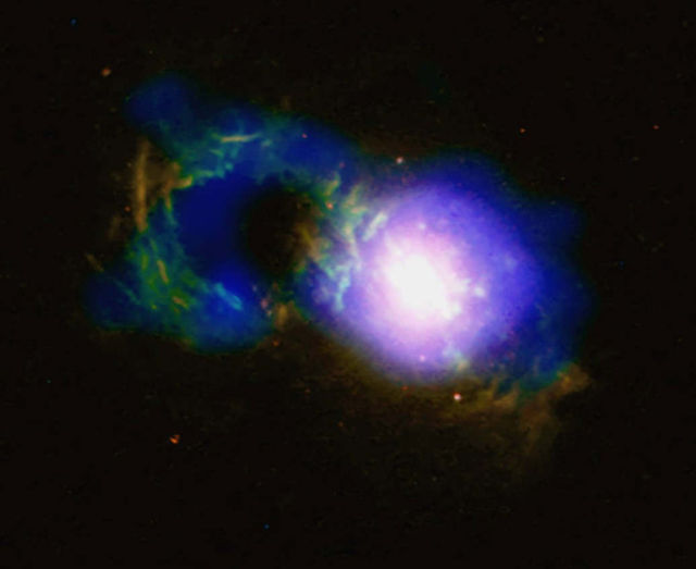 Storm Rages in Cosmic Teacup