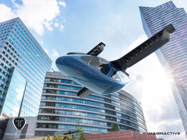 The Transvolution flying sports car