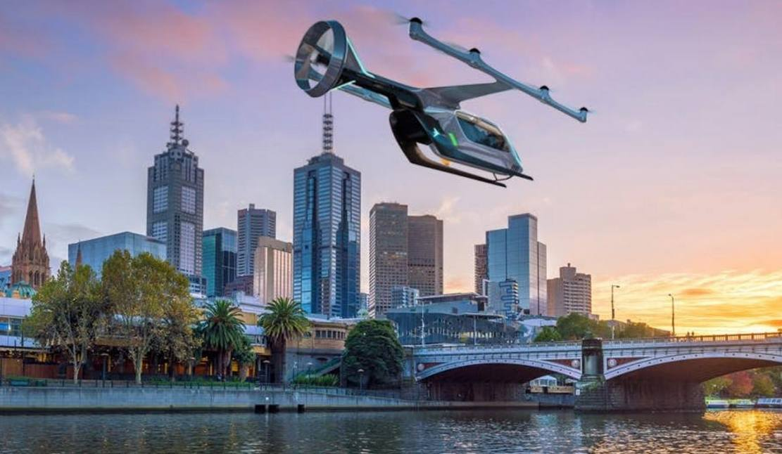 Uber shows off flying taxi plans for Australia
