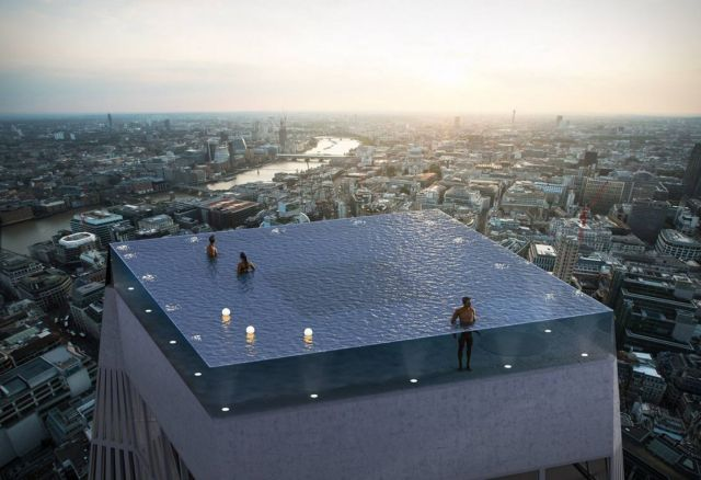 360-degree infinity pool in London