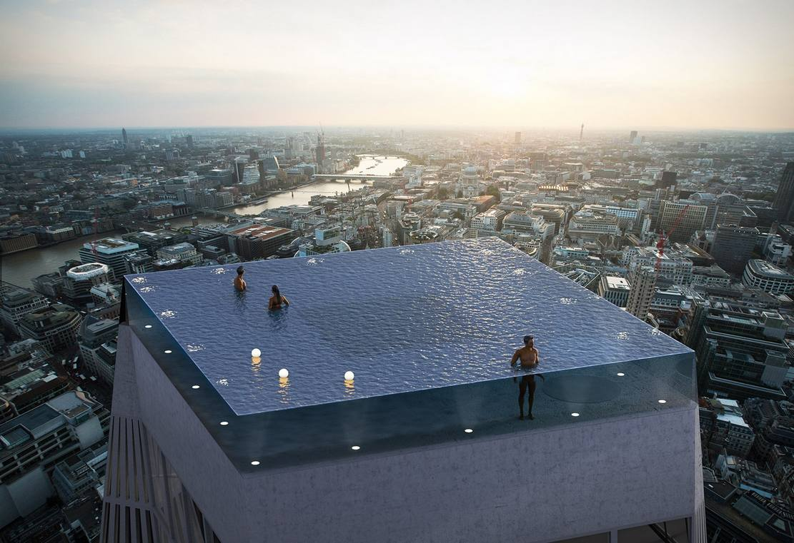 World's first 360-degree infinity pool in London