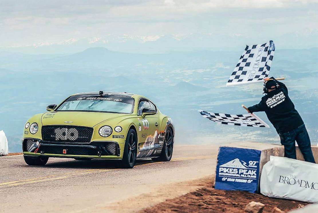 Bentley Continental GT the Fastest production car at Pikes Peak (3)