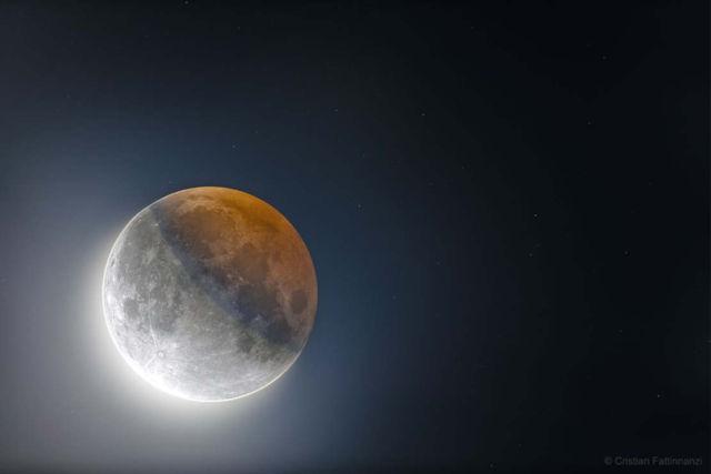 Earth's Circular Shadow on the Moon