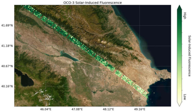 First Data from NASA's Orbiting Carbon Observatory-3